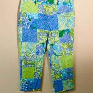 Lilly Pulitzer cotton pants size 4 green/ …